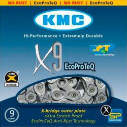Цепь KMC X9EPT 1/2x11/128x116L, 9ск