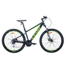 """Велосипед 27.5"""" LEON XC-80 2021 антрацитно-жовтий з чорним (матовий)"""