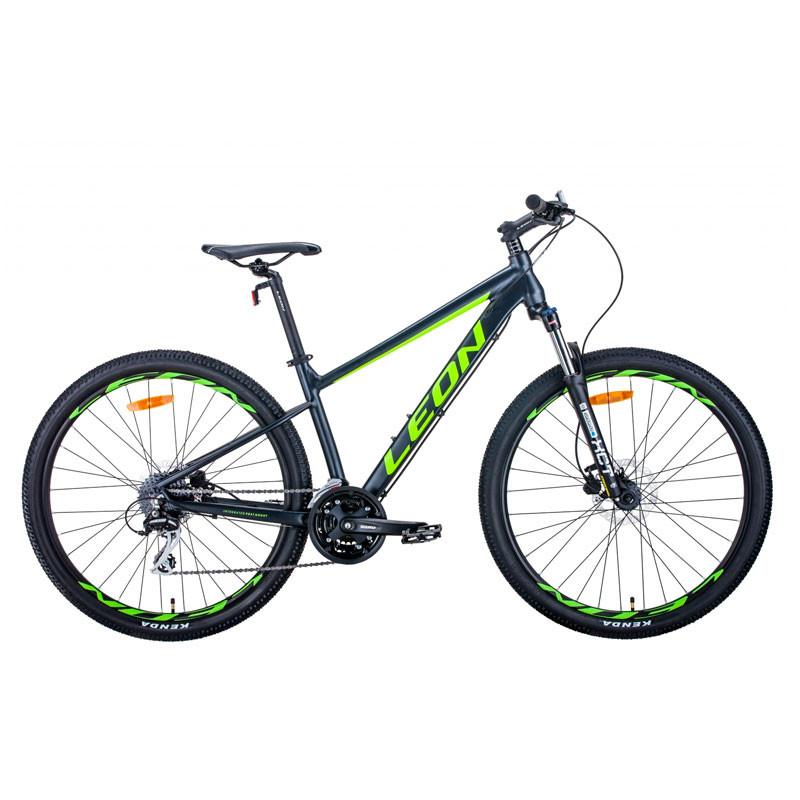 """Велосипед 27.5"""" Leon XC-80 2021 антрацитово-желтый с черным (матовый)"""