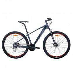 """Велосипед 29"""" LEON TN-80 2021 графітовий з чорним і помаранчевим (матовий)"""
