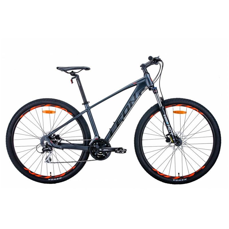 """Велосипед 29"""" Leon TN-80 2021 графитовый с черным и оранжевым (матовый)"""