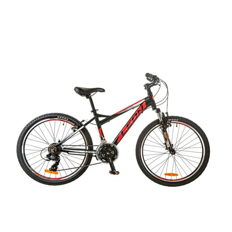 Подростковый велосипед Б/У Leon Junior AM V-BR 2017 чёрно-красный