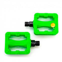 Педаль детск. пластик. Feiming FP-607 80х58мм резьба М10  салатовый