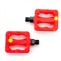Педаль детск. пластик. Feiming FP-607 80х58мм резьба М10 красный
