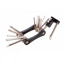 Мультитул KEN TECH KL-9835B черный 11 функций: шестигранники, отвёртки, выжимка цепи