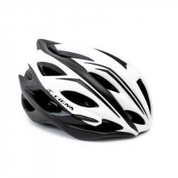 Шлем велосипедный с козырьком CIGNA WT-015 белый с черным L (58-61см)