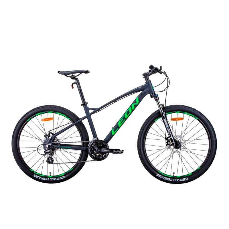 """Велосипед 27.5"""" LEON XC-90 2021 графитовый с зеленым"""