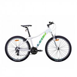 """БУ Велосипед Leon HT-LADY 2021 15"""" бело-синий с салатным"""