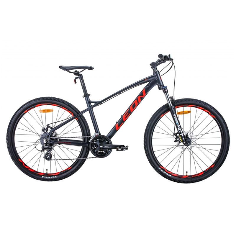 """БУ велосипед 27.5"""" LEON XC-90 2020 16,5"""" графитовый с красным"""