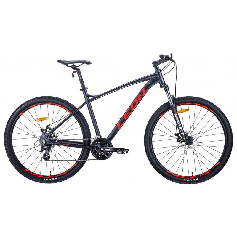 """Б/У Велосипед 29"""" LEON TN-90 2021 18"""" графитовый с красным"""