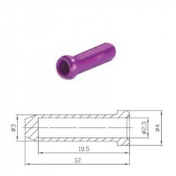 Кінцевик троса Alligator фіолетовий уп 100 шт