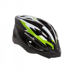 Шлем велосипедный HEL126 черно-бело-салатный L