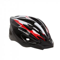 Шолом велосипедний HEL127 чорно-біло-червоний М