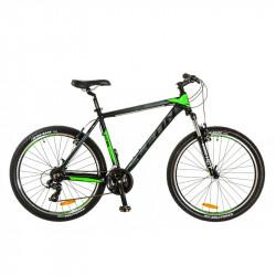 """Уживаний велосипед Leon HT85 чорно-зелений 18"""" 2017 (437)"""