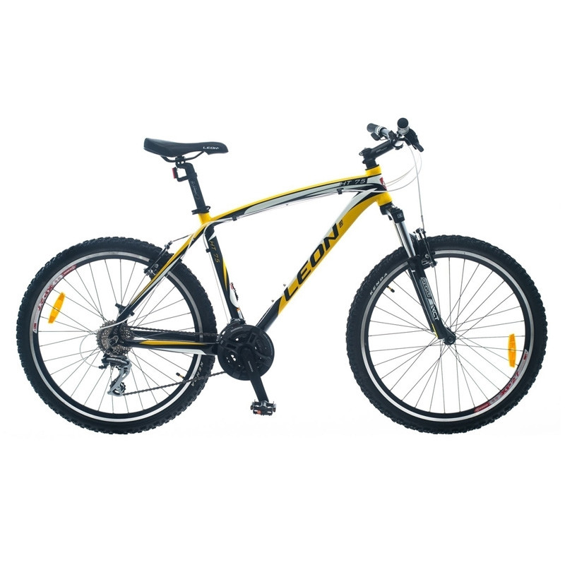 """БУ велосипед Leon HT75 2014 чёрно-желтый 19"""""""