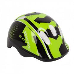 Шлем велосипедный HEL096 черно-салатный детский