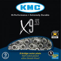 Цепь KMC X9.93 1/2х11/128х116L, 9 скор. с замком, OEM