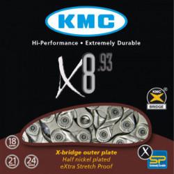Цепь KMC X8.93 1 / 2х3 / 32х116L, 8скор.