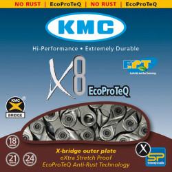 Цепь KMC X8EPT 1/2х3/32х116L EPT, 8скор.