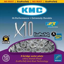 Цепь KMC X10-1EL 1 / 2х11 / 128х114L сер / сер, 10скор.