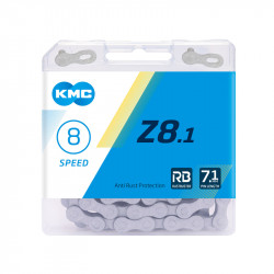 цепь KMC Z8.1 RB 1/2х3/32/116L серая (новое название...