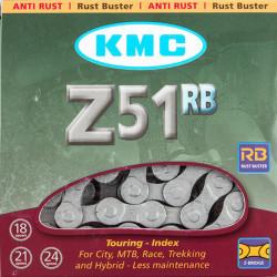Цепь KMC Z51RB 1/2х3/32/116L серая