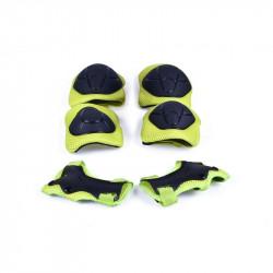 Защита FSK M01 (Кисти, локти, колени) черно-салатный