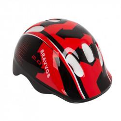 Шлем велосипедный HEL100 черно-красный детский