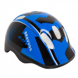 Шлем велосипедный HEL100 черно-синий детский